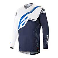 Alpinestar Techstar Factory Jersey 2019 Bianco Blu Scuro