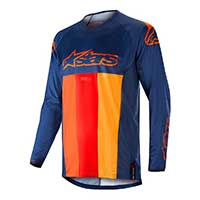 Alpinestar Techstar Venom Jersey 2019 Dark Blue Red Tangerine