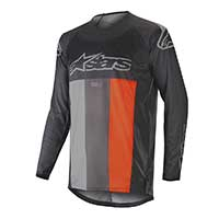 Alpinestar Techstar Venom Jersey 2019 Anthracite Gray Orange Fluo