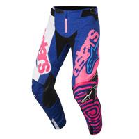 Alpinestar Youth Racer Venom Pantaloni 2018 Blu Rosa Fluo Bimbo