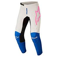 Pantaloni Alpinestars Fluid Tripple 2022 Bianco Rosa
