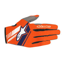 Alpinestars Neo Gloves Orange Fluo Blue