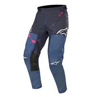 Alpinestars Racer Flagship Pants 2019 Indigo Dark Navy Pink Fluo