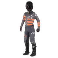 Alpinestars Racer Flagship Jersey 2019 Mid Gray Anthracite Orange Fluo