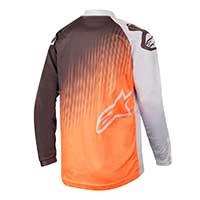 Alpinestars Racer Supermatic Jersey 2019 Light Gray Orange Fluo Black