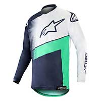 Alpinestars Racer Supermatic Jersey 2019 Dark Navy Teal White