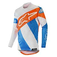 Alpinestars Racer Tech Atomic Jersey 2019 Cool Gray Mid Blue Orange Fluo