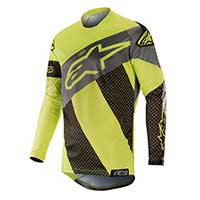 Alpinestars Racer Tech Atomic Jersey 2019 Black Yellow Fluo