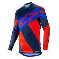 Alpinestars Racer Tech Atomic Jersey 2019 Red Dark Navy Blue
