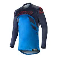 Alpinestars Racer Tech Compass Jersey 2019 Dark Navy Mid Blue Burgundy