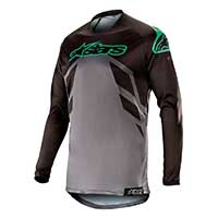 Alpinestars Racer Tech Compass Jersey 2019 Black Mid Gray Teal