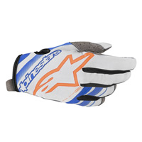 Alpinestars Radar Glove 2019 Cool Gray Blue Orange Fluo