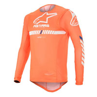 Maillot Alpinestars Supertech 2020 Orange Blanc