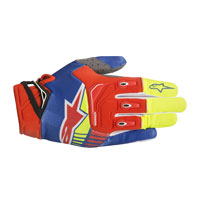 Alpinestars Techstar Glove 2018 Giallo Rosso Fluo