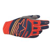Alpinestars Techstar Glove 2019 Dark Blue Red Tangerine