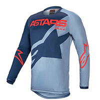Alpinestars Youth Racer Braap 2021 Jersey Blue Kinder