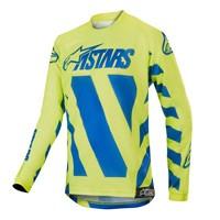 Alpinestars Youth Racer Braap Jersey 2019 Giallo Fluo Blu Bimbo