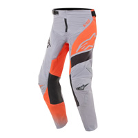 Alpinestars Youth Racer Supermatic Pants 2019 Grigio Arancio Nero Bimbo