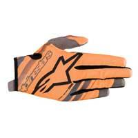 アルパインスターズユースレーダーグローブオレンジ蛍光ブラック
