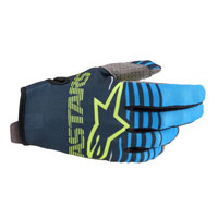 Alpinestars Youth Radar 2020 Gloves Navy Aqua Kinder
