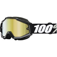 100% Accuri Snowmobile Goggle Tornado Yellow Vented Dual Lens W/pins