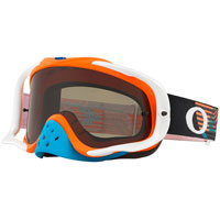 Oakley Crowbar Mx Circuit Orange Bleu Lentille Gris Foncé