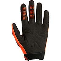 Fox Dirtpaw Youth Gloves Orange Fluo Kid