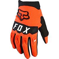 Fox Dirtpaw Youth Gloves Orange Fluo Kinder