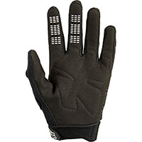 Fox Dirtpaw Youth Gloves Black White Kid