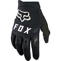 Fox Dirtpaw Youth Gloves Black White Kinder