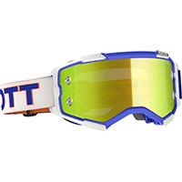 Scott Fury Goggle White Blue Yellow Chrome