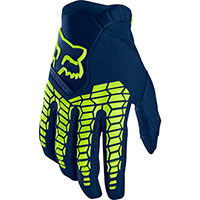 Fox Offroad Gloves Pawtector Blue Navy