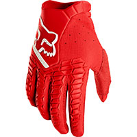 Fox Offroad Gloves Pawtector Red