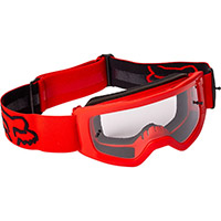 Fox Youth Main Stray Goggle Fluo Red Kinder