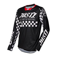 Maglia Just-1 J Force Racer Nero Bianco