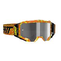 Maschera Leatt Velocity 5.5 Neon Arancio Grigio