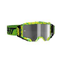 Maschera Leatt Velocity 5.5 Neon Lime Grigio Chiaro