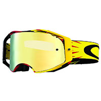 Oakley Airbrake Mx High Voltage Red Yellow Lens 24k Iridium