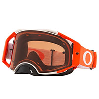 Oakley Airbrake Mx Tuff Blocks Orange Lens Bronze