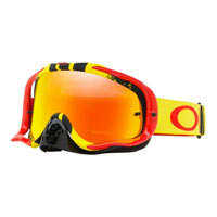 Oakley Crowbar Pinned Race Red Yellow Lente Fire Iridium & Clear