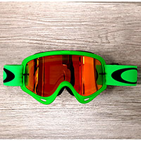 Gafas Oakley O Frame MX verde lente fire