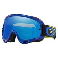 Oakley O Frame Mx Circuit Blu Lente Specchiata Ice