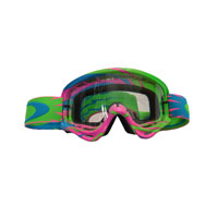 Oakley Xs O Frame High Voltage Pink/blue - Lente Clear Kid