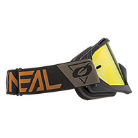 O Neal B10 Speedmetal Brown Lens Red