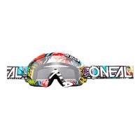 O'neal B10 Crank Goggle Clear Multicolor