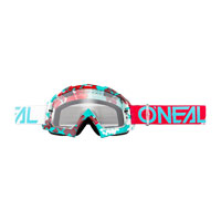 O'neal B10 Pixel Goggle Clear Ruby Red Blue