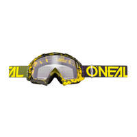 O'neal B10 Pixel Goggle Clear Giallo Verde