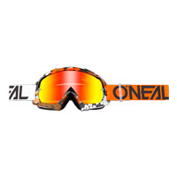 O'neal B10 Pixel Goggle Radium Arancio Bianco