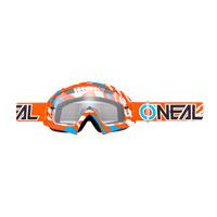 O'neal B10 Stream Goggle Clear Arancio Blu