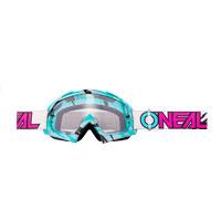 O'neal B10 Stream Goggle Clear Grigio Blu